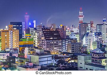 Wakayama, Japan cityscape - Wakayama, Japan downtown...