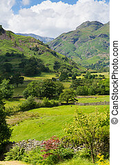 Langdale Valley Lake District blue - Langdale Valley Lake...