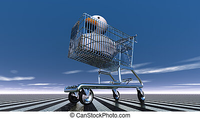 Rubber Duck in shopping cart - Rubber Duck in the basket...