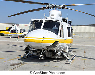rescue helicopter - sunny pic of a rescue helicopter on...