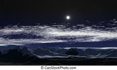 Moonlit night in the mountains