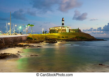 Salvador da Bahia, Brazil - Barra lighthouse .