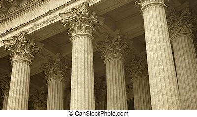 Colonnade of St Kazan Cathedral in St Petersburg, Russia -...