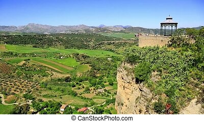 View of the countryside from Ronda Spain
