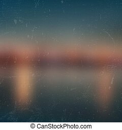 Cabotage Harbour - Vector blurred landscape, horizon with...