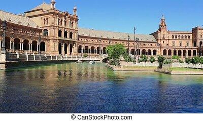 Seville, Spain - Plaza de Espana - Seville, Spain - famous...