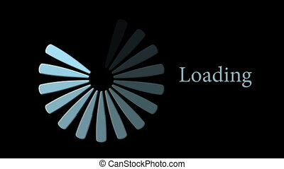 Animation, download loading progress bar, HD