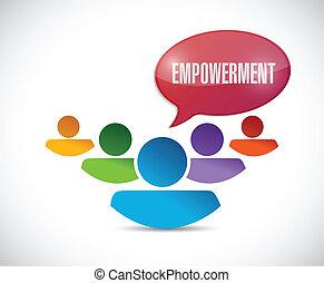 empowerment teamwork message illustration design over a...