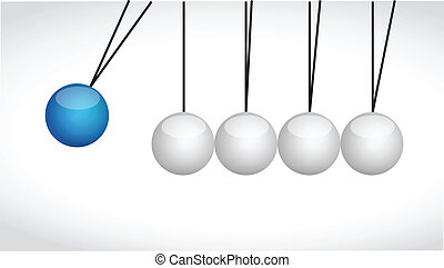 sphere balls hitting each other illustration