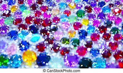 Abstract composition - synthetic diamonds in a shop window -...