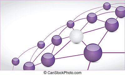 sphere connection link tech network illustration design over...