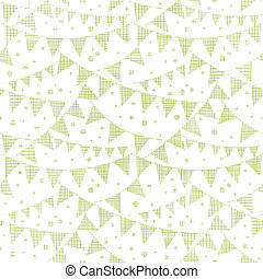 Green Textile Party Bunting Seamless Pattern Background -...