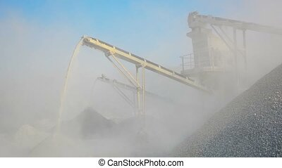 Factory for production of gravel. Stone crusher in Burma -...