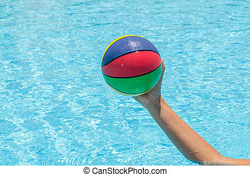 Ball in the pool Photo for microstock