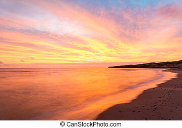 Beach at the crack of dawn - Cavendish beach at the crack of...