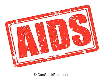 Aids red stamp text