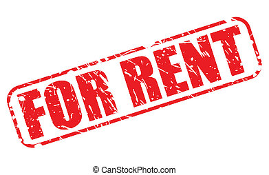 For rent red stamp text on white