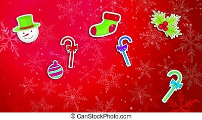 Christmas Ornament Pack Set Red