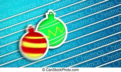 Baubles Bounce Christmas Greeting
