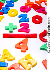 Plastic Numbers - Mathematics - Brightly colored plastic...