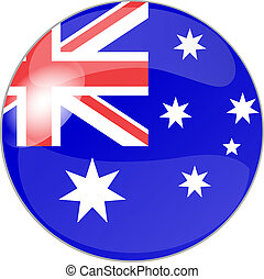 button australia - illustration of a button australia