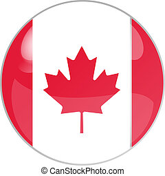 button canada - illustration of a button canada