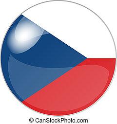 button czech republik - illustration of a button czech...