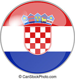 button croatia - illustration of a button croatia