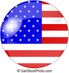 button usa - illustration of a button usa