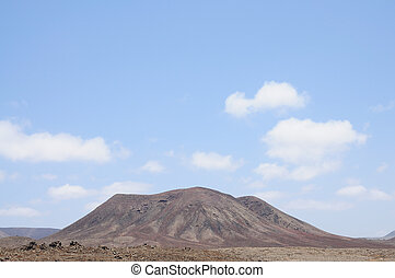 Volcano mountain on Canary Island Fuerteventura, Spain
