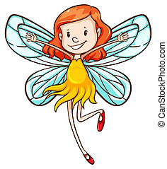 A simple sketch of a young fairy