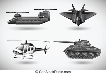 Military aircrafts - Illustration of the military aircrafts