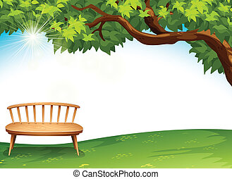 A chair near the tree