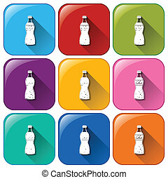 Soda icons - Illustration of the soda icons on a white...