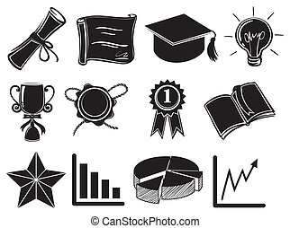 Symbols and signs of success - Illustration of the symbols...