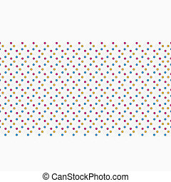 Colorful dots seamless pattern