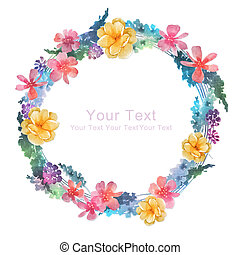 watercolor floral illustration collection. flowers arranged...