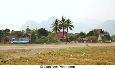 Lao village life around Vang Vieng, Laos
