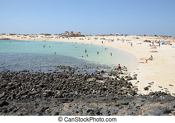 Beach near El Cotillo, Canary Island Fuerteventura, Spain