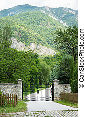 Entrance to the garden of the monas - Bachkovo Monastery -...