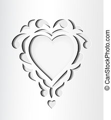 Paper cutout card with heart