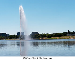 Captain Cook Memorial Fountain, Canberra, Australia