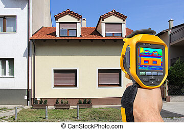 Recording With Thermal Camera - Recording Heat Loss at the...