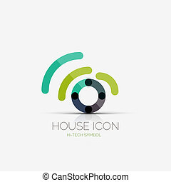Home wifi company logo, business concept - Vector home wifi...