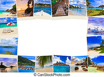 Frame made of summer beach maldives images