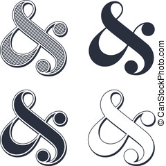 Ampersand collection - Elegant and stylish custom ampersands...