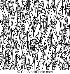 Seamless monochrome pattern - Abstract background with...