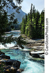 Mountain Stream - Beautiful glacier fed turquoise blue water...