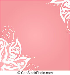 Background with floral pattern and space for your text