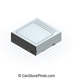 Isometric Disc Drive - This image is a internal disc drive...